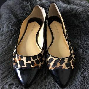 Gianni Bini flats, cheetah print, animal hair 8.5M